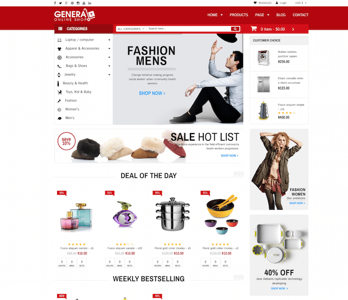 WP General Mart eCommerce Websites
