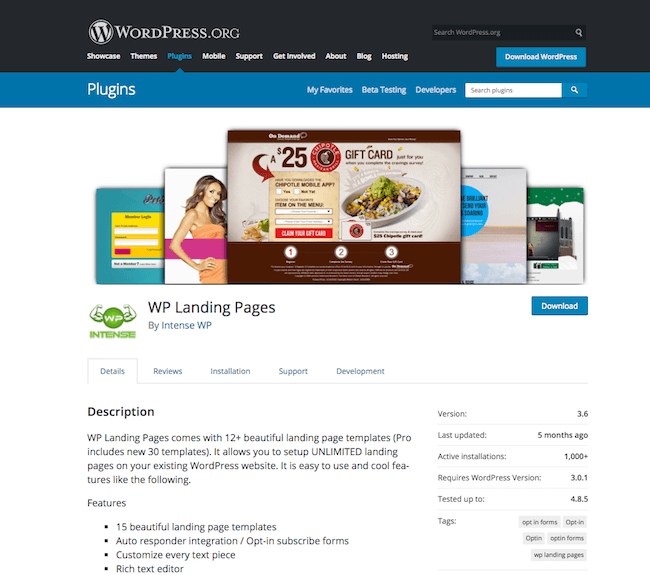 WP Landing Pages