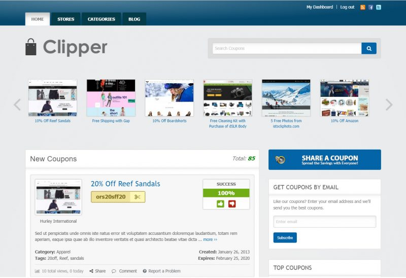 Clipper Daily Deal WordPress Theme