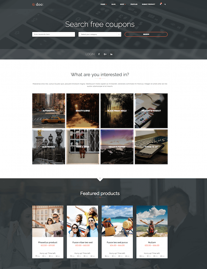 doo daily deal wordpress theme