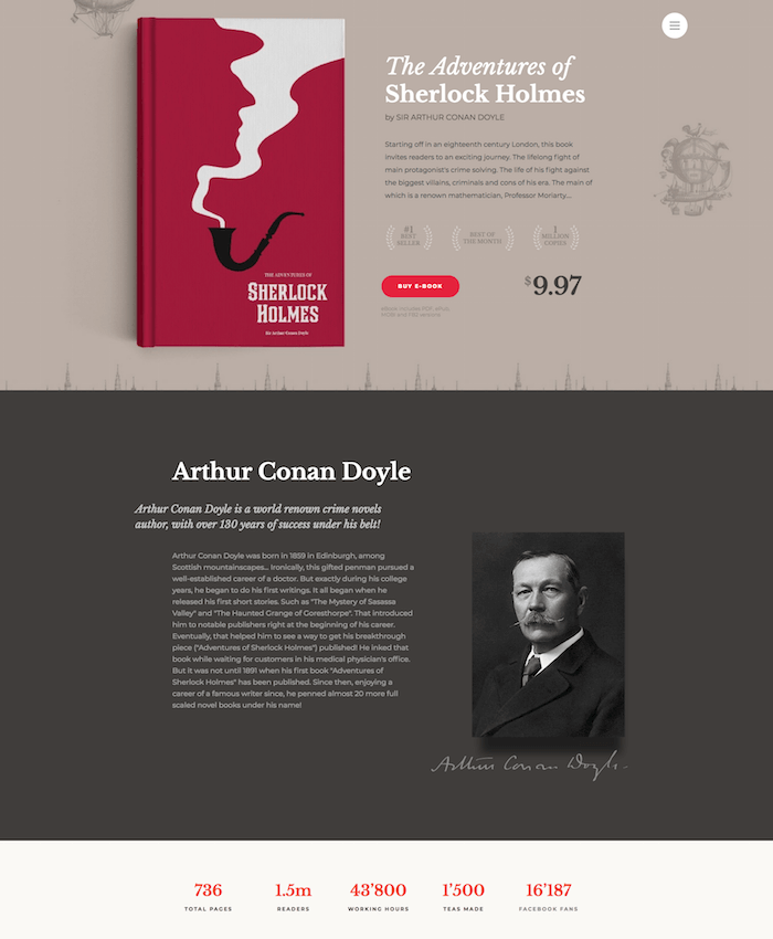 eBooks Website Template