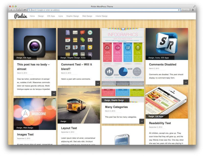 PINBIN Pinterest WordPress Theme