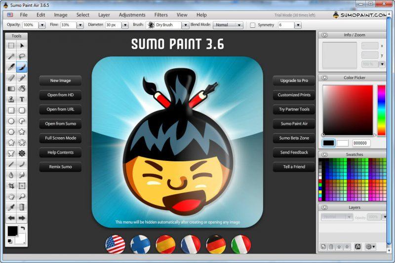 SumoPaint Photo Editing software