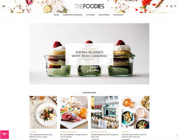 the-voux-minimal-food-blog-theme