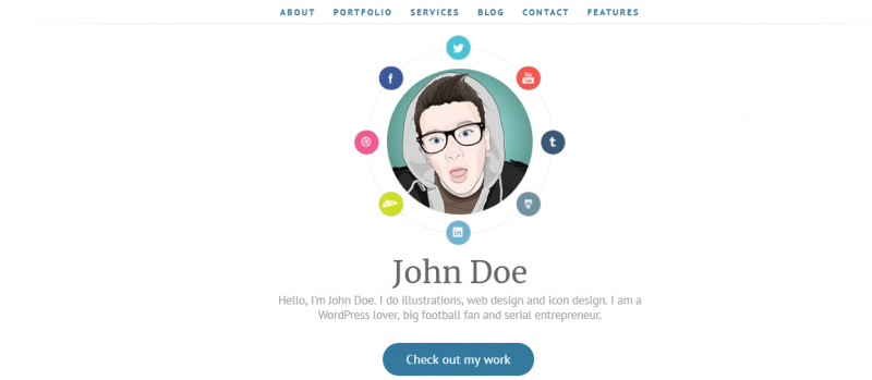 Personal Portfolio WordPress Theme