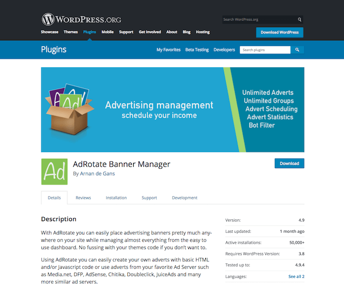 AdRotate Banner Manager