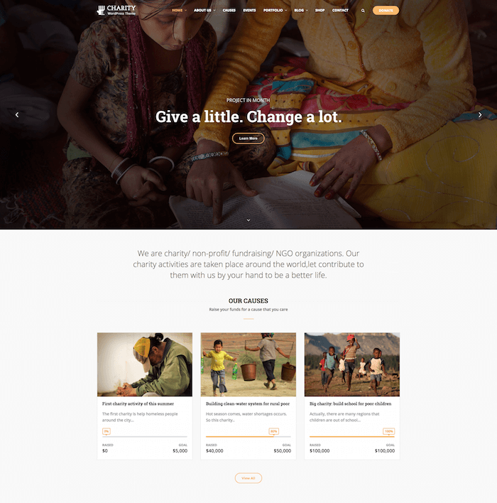 Charity WP WordPress Theme
