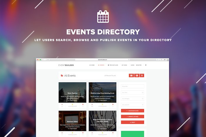 Event Directory WordPress Theme