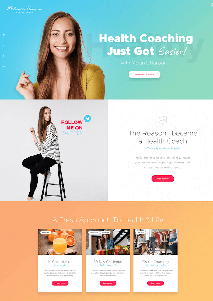 Health Coach Blog & Lifestyle Theme