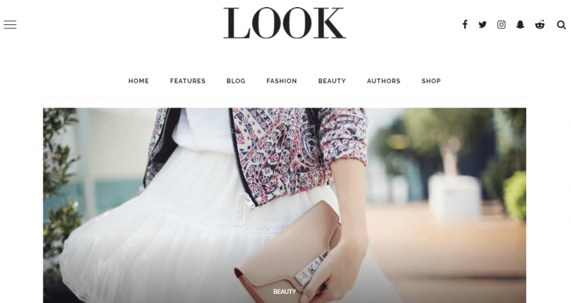 Look Fashion Magazine Theme