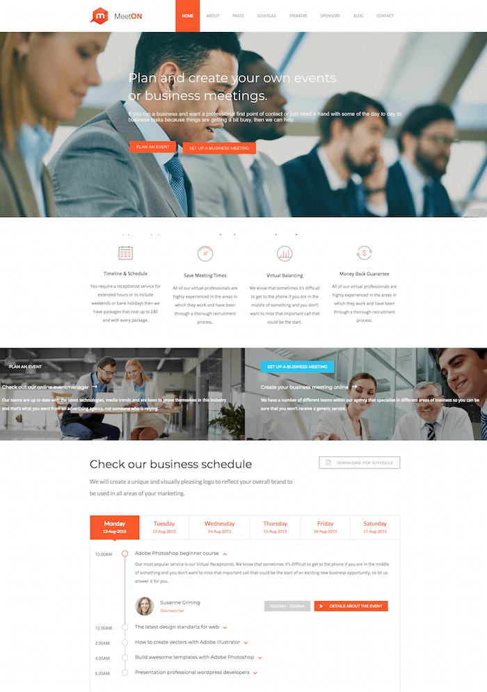 Meeton Event WordPress Theme