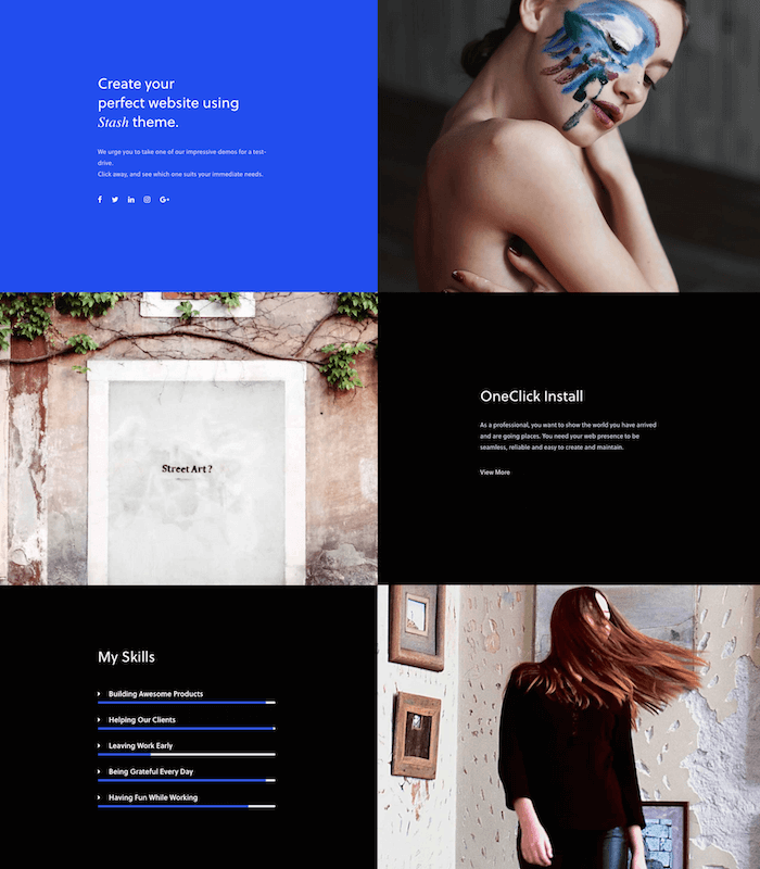 Stach Model Agency Theme
