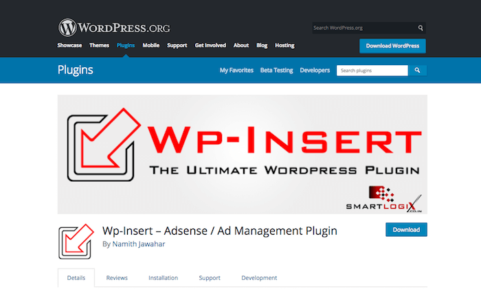 Wp-Insert Adsense Ad Management Plugin