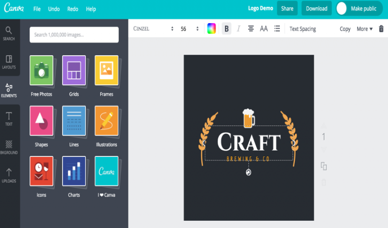 Canva for creating logo