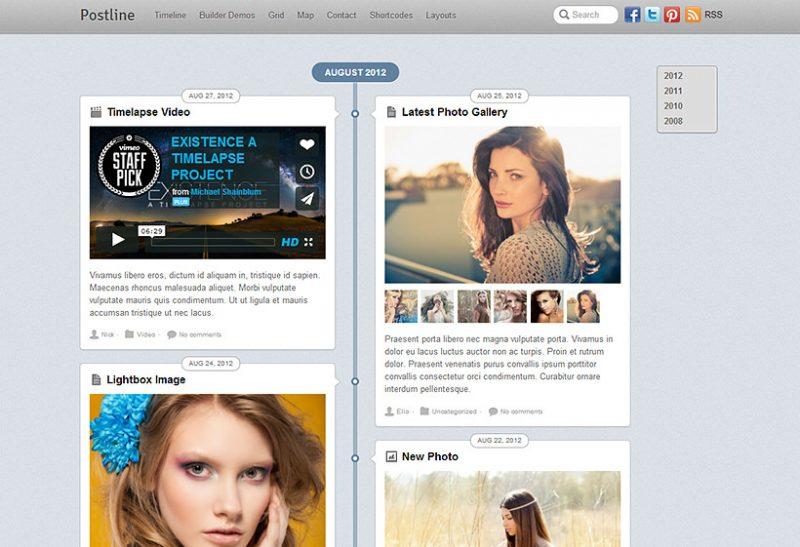 Postline Facebook timeline style theme