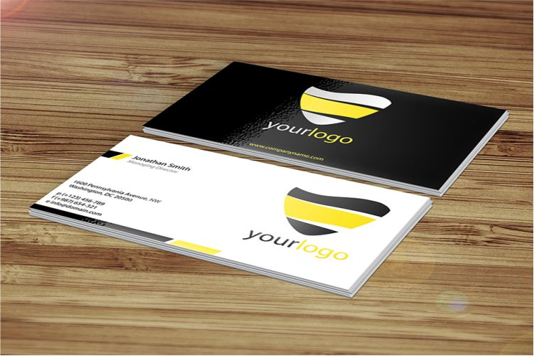 Customizable Business Card Mockup