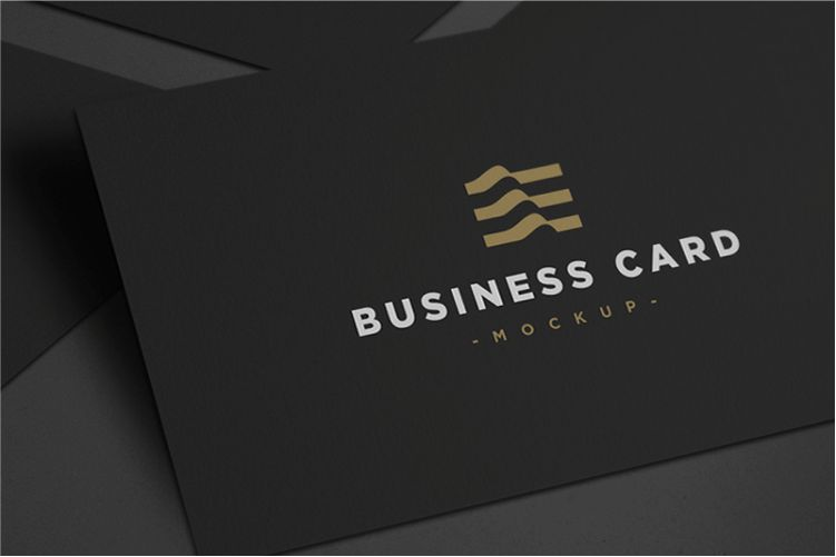 Dark Business Card Mockup PSD