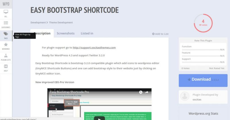 Easy Bootstrap Shortcodes