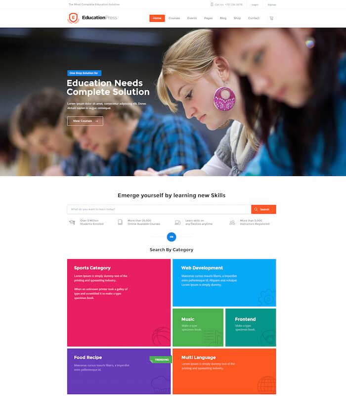 Education Press WordPress Theme