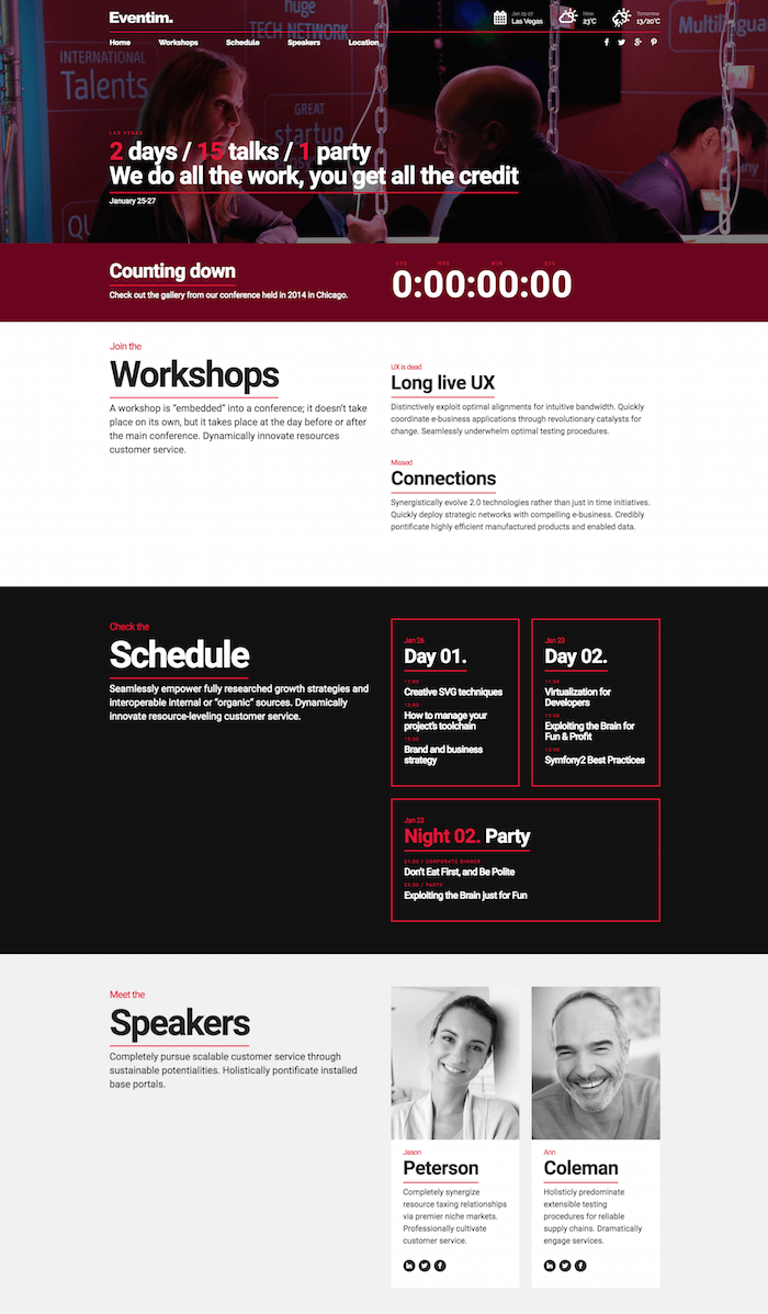 Eventim Event & Conference Theme