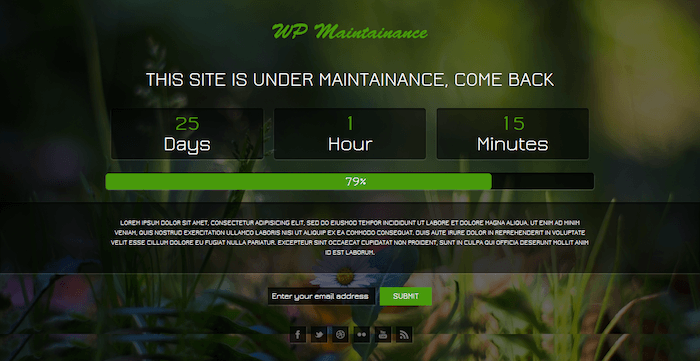 Fancy WP Maintenance Mode
