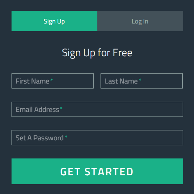 Floating Sign up Form