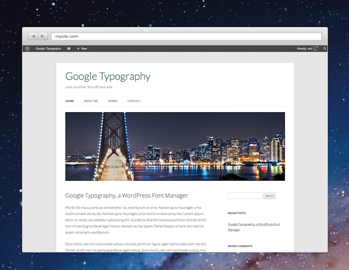 Google Font Selection