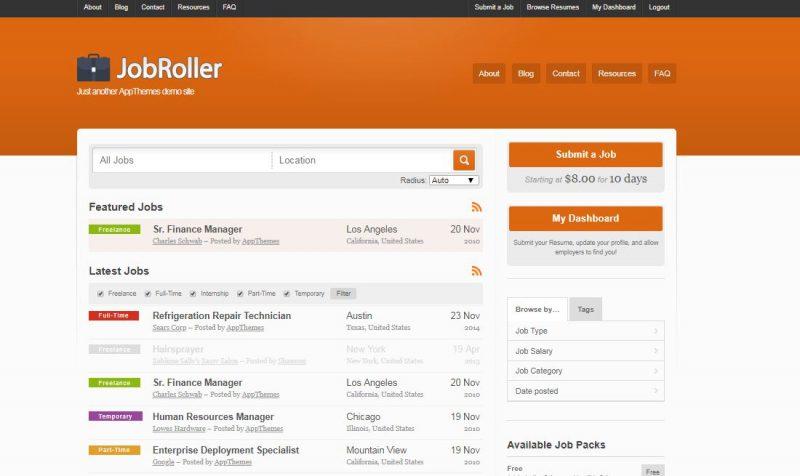 Job Roller WordPress Theme
