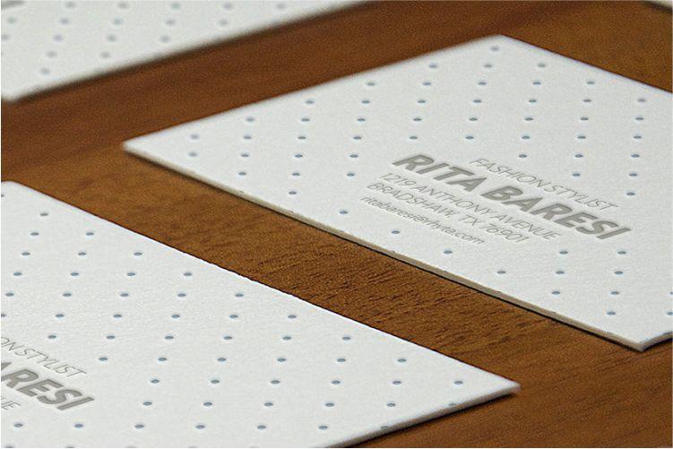 Letterpress B-Card Perspective Mockup