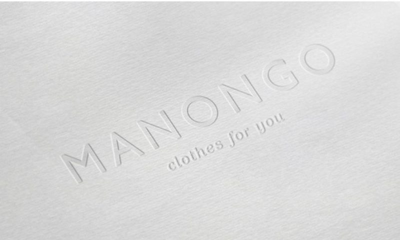 Letterpress and White Paper Logo Design