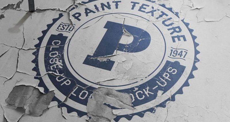 Old Paint Logo Mockup