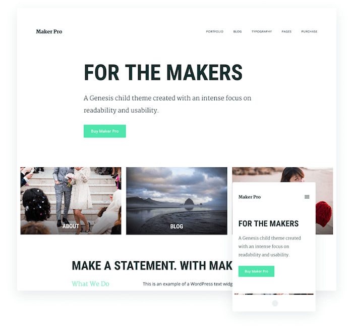 Maker Pro Theme