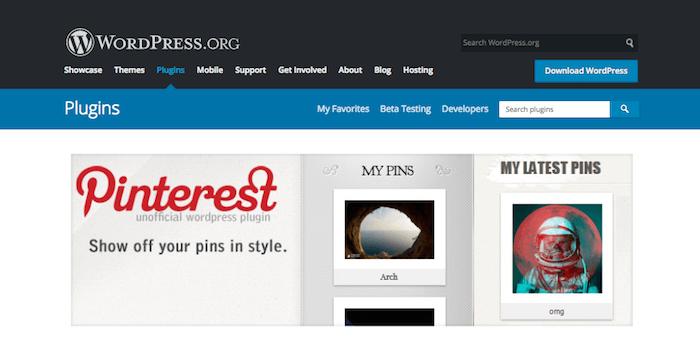 Pinterest Plugin