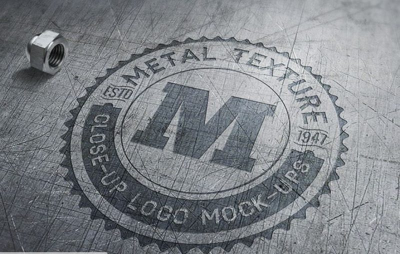 Close-Up Logo Mockup