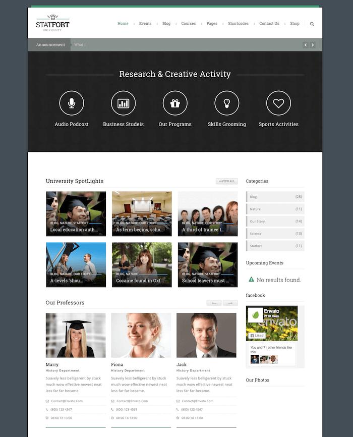 Stratfor Education WordPress Theme