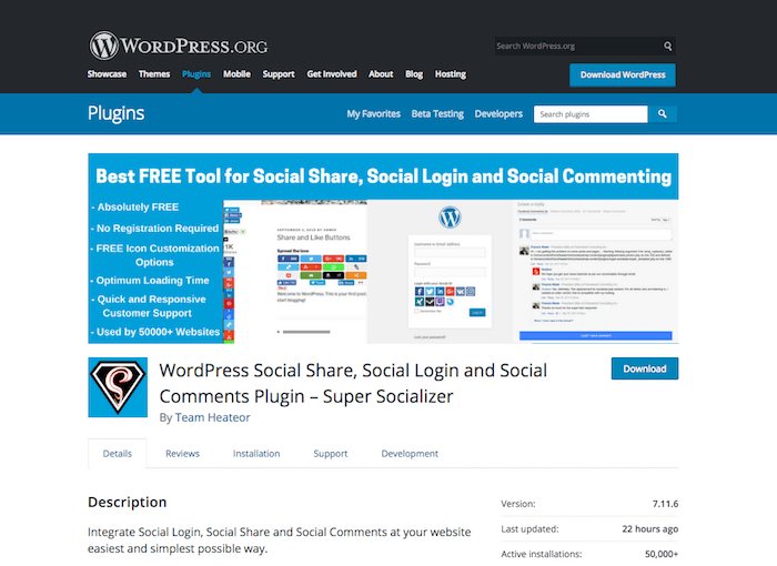 Super Socializer Social Login
