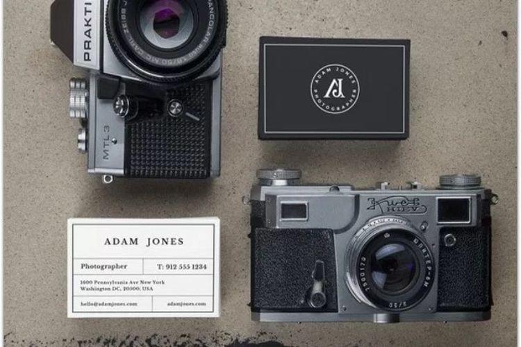 Vintage Cameras and B-Cards Mockups