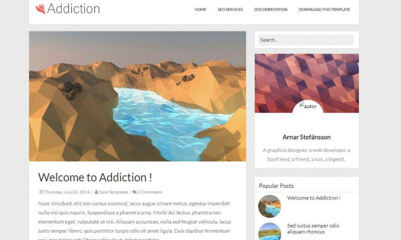 Addiction Minimal Blogger Template
