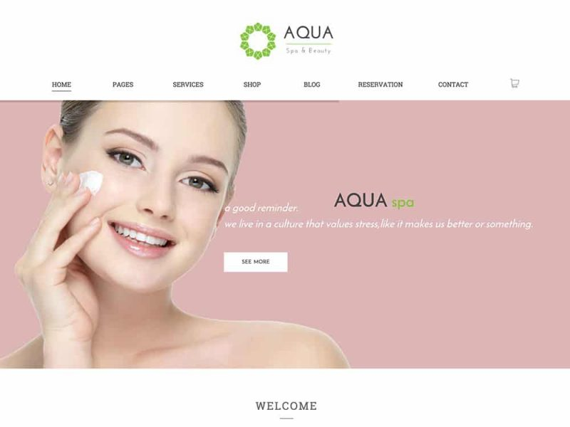 Aqua WooCommerce Spa and Salon Theme