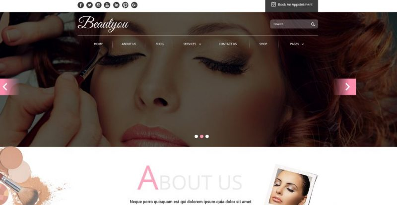 Beautyou Salon Theme