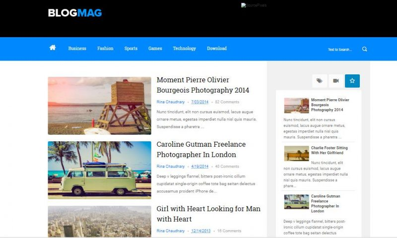 Blogmag Blogspot Template