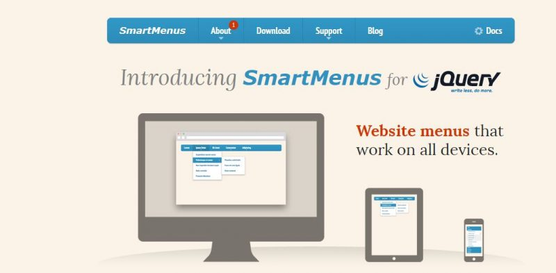Smartmenus Menu Plugin