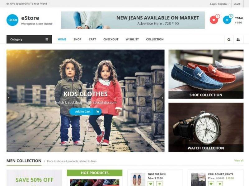 e-STORE WooCommerce Theme