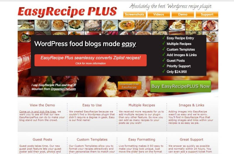 Easy Recipe plugin