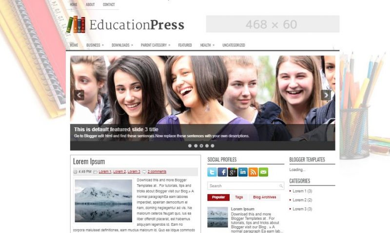 30 Best Free Blogger Templates For Education Sites 2020