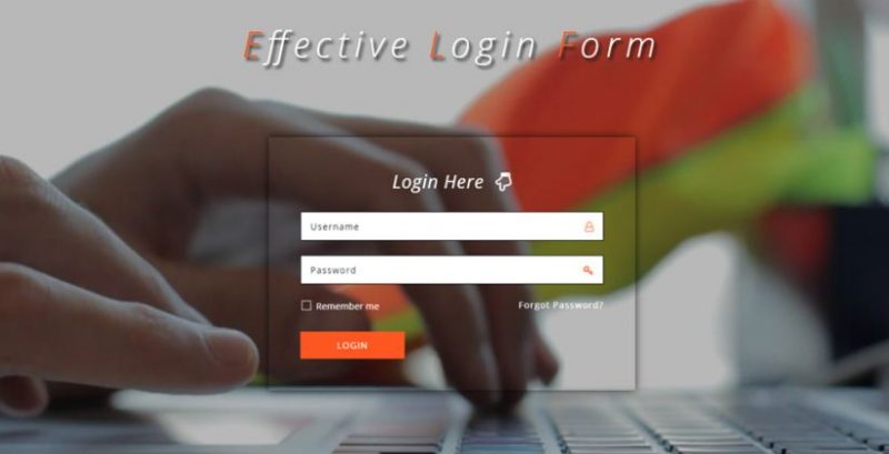 Effective Login Form