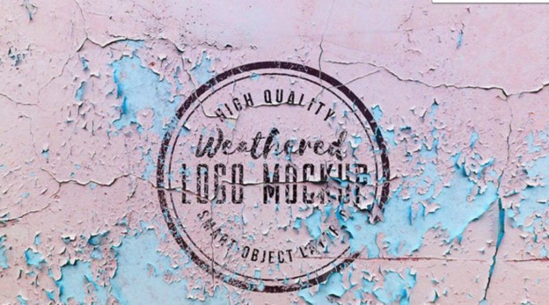 Weathered Logo Mockup