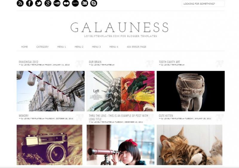 Galauness Grid Blogger Template