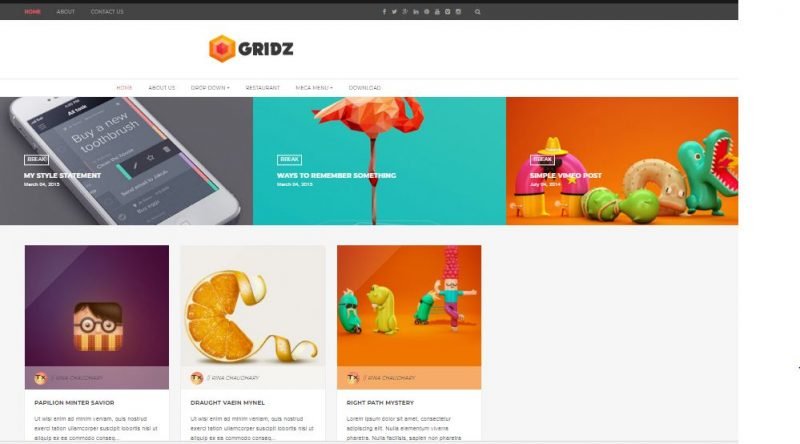 Gridz Blogspot Template