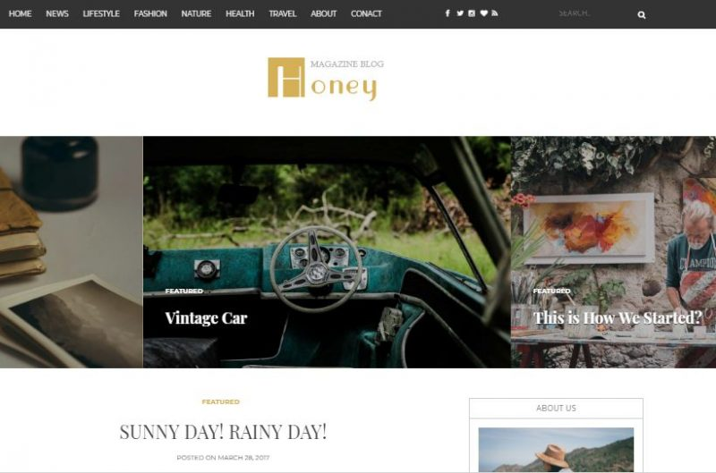 honey-blogger-template